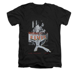 Image for Elvis V-Neck T-Shirt Las Vegas