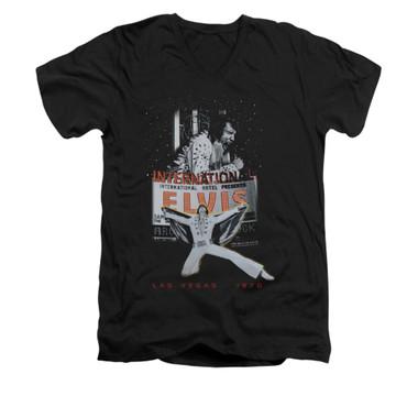 Image for Elvis V-Neck T-Shirt Las Vegas