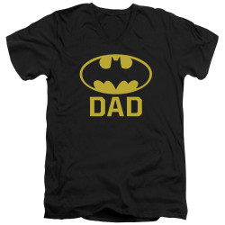 Image for Batman T-Shirt - V Neck - Best Dad