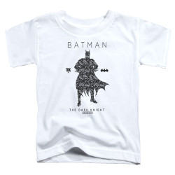 Image for Batman Toddler T-Shirt - Paisley Silhouette