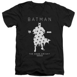 Image for Batman T-Shirt - V Neck - Star Silhouette