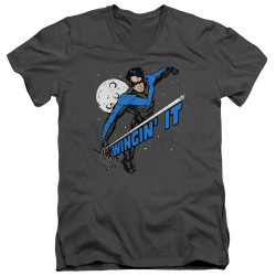 Image for Batman T-Shirt - V Neck - Wingin' It