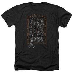 Image for Batman Heather T-Shirt - Arkhams Gate