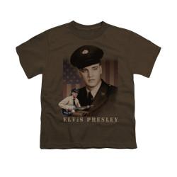Image for Elvis Youth T-Shirt - GI Elvis