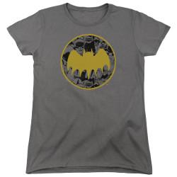 Image for Batman Womans T-Shirt - Vintage Symbol Collage