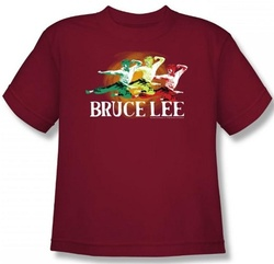 Image for Bruce Lee Youth T-Shirt - Tri Color