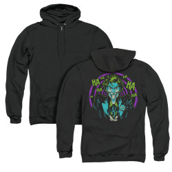 Image for Batman Zip Up Back Print Hoodie - Hahaha