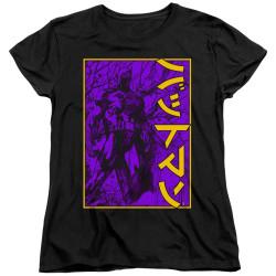 Image for Batman Womans T-Shirt - Big Framed Kanji