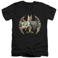 Image for Batman T-Shirt - V Neck - 80th Shield