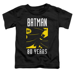 Image for Batman Toddler T-Shirt - 80 Years Silhouette