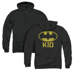 Image for Batman Zip Up Back Print Hoodie - Bat Kid