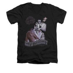 Image for Elvis V-Neck T-Shirt Violet Vegas
