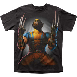 Image for Wolverine Subway T-Shirt - Claws Drawn Big Print