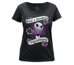 Image for The Nightmare Before Christmas Women's Scoopneck T-Shirt - What a Wonderful Nightmare