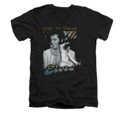 Image for Elvis V-Neck T-Shirt Live in Vegas