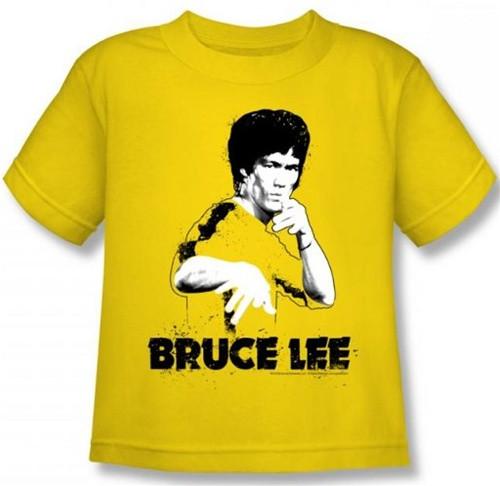 4c8b24936 Bruce Lee Kids T-Shirt - Yellow Splatter Suit - NerdKungFu