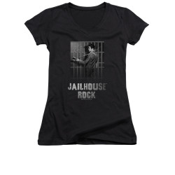Image for Elvis Girls V Neck T-Shirt - Jail House Rock