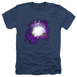 Image for Outer Space Heather T-Shirt - Nebula Navy