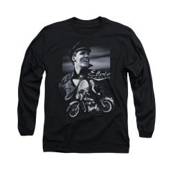 Image for Elvis Long Sleeve T-Shirt - Motorcycle