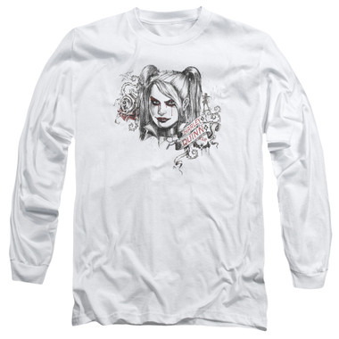 Image for Batman Arkham Knight Long Sleeve T-Shirt - Sketchy Girl