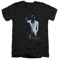 Image for Batman Arkham Origins V-Neck T-Shirt Black Mask