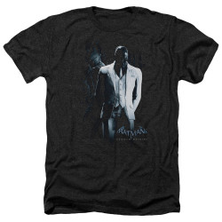 Image for Batman Arkham Origins Heather T-Shirt - Black Mask