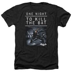 Image for Batman Arkham Origins Heather T-Shirt - One Night