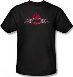 Image for Batman T-Shirt - Steel Flames Logo