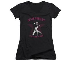 Image for Elvis Girls V Neck T-Shirt - Viva Las Vegas Star