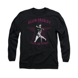 Image for Elvis Long Sleeve T-Shirt - Viva Las Vegas Star