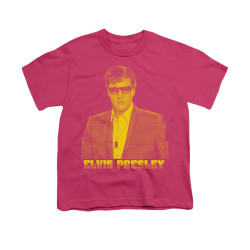 Image for Elvis Youth T-Shirt - Yellow Elvis