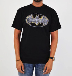 Image for Batman T-Shirt - Steel Fire Shield Logo