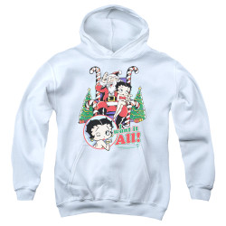 Image for Betty Boop Youth Hoodie - I Want It All