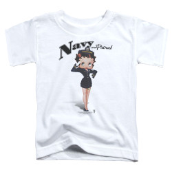 Image for Betty Boop Toddler T-Shirt - Navy Boop