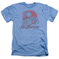 Image for Betty Boop Heather T-Shirt - All American Biker