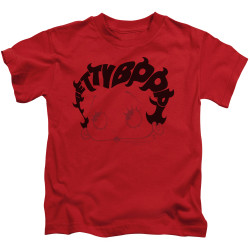 Image for Betty Boop Kids T-Shirt - Word Hair