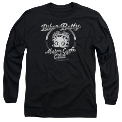 Image for Betty Boop Long Sleeve Shirt - Chromed Logo