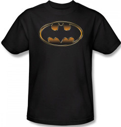 Image Closeup for Batman T-Shirt - Black & Gold Shield Logo