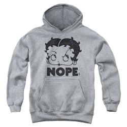 Image for Betty Boop Youth Hoodie - Boop Nope