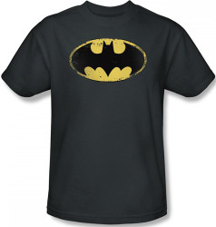 Image Closeup for Batman T-Shirt - Distressed Shield Logo