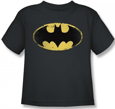 Image for Batman Kids T-Shirt - Distressed Shield Logo