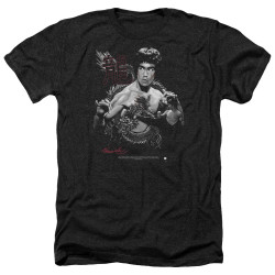 Image for Bruce Lee Heather T-Shirt - The Dragon