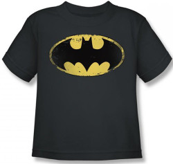 Image for Batman Distressed Shield Logo Toddler T-Shirt