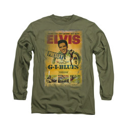 Image for Elvis Long Sleeve T-Shirt - GI Blues Poster
