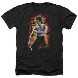 Image for Bruce Lee Heather T-Shirt - Dragon Fire