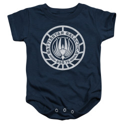 Image for Battlestar Galactica Baby Creeper - Scratched BSG Logo