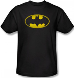 Batman T-Shirt - Washed Bat Logo Image 2