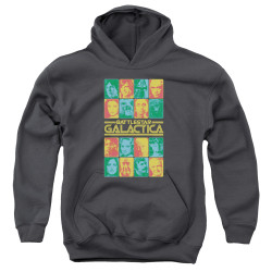 Image for Battlestar Galactica Youth Hoodie - 35th Anniversary Cast