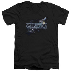 Image for Battlestar Galactica V Neck T-Shirt - Cylon Pursuit
