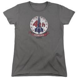 Image for Battlestar Galactica Womans T-Shirt - Demons Badge